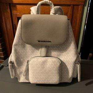 Michael Kors Abbey Lg Bright White Cargo Backpack